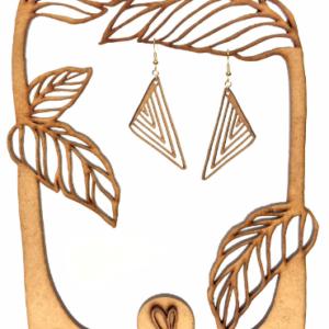 Boucles d'oreilles en bois Cleopatra2