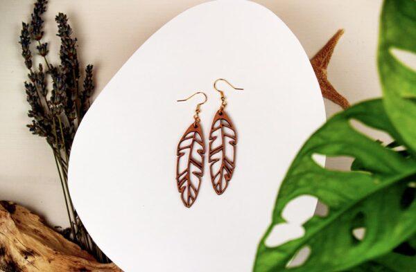 Boucles d'oreilles en bois pour femme Agartha
