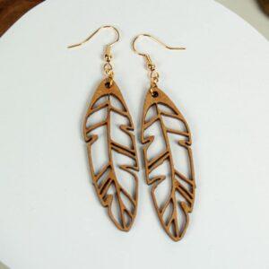 Boucles d'oreilles en bois pour femme Agartha 2