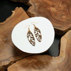 Boucles d'oreilles en bois pour femme Agartha3